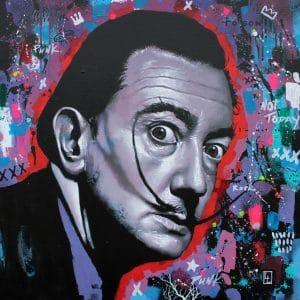 Salvador Dali Pop Art Style representation.